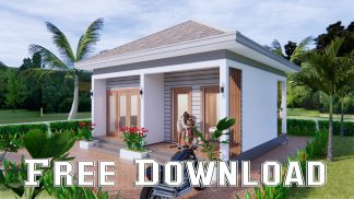 Small House 7x7 Meter 23x23 Feet One Bed Free download