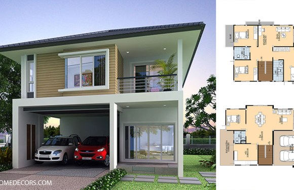 House Plans 7.5×12 Meter with 4 Bedrooms