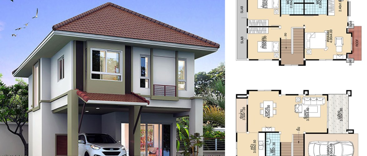 Modern House Design 7×11 with 3 Bedrooms