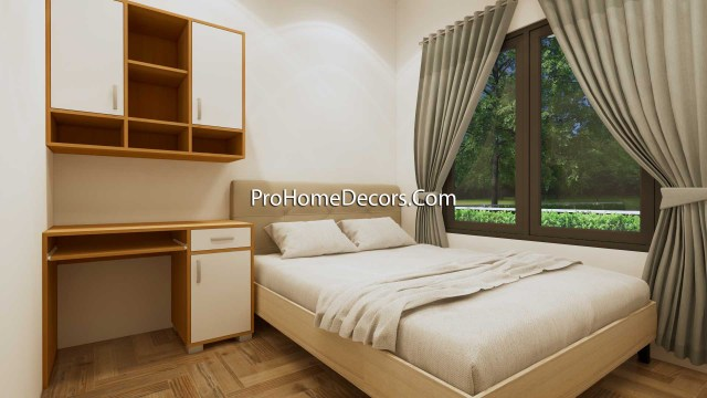 Small Home Design 6.5x6 Meter 22x20 Feet Hip Roof Bedroom 2