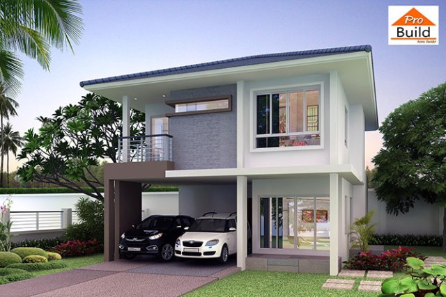 House Design 3d 8x11 with 4 bedrooms 1