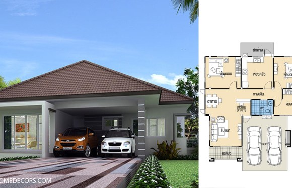 House Plans 10.5×11.5 with 3 Beds