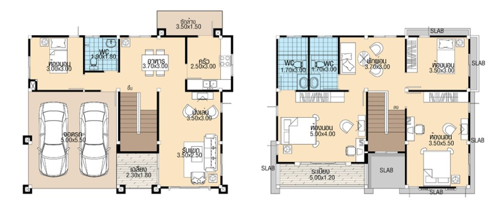 House-Plans-11.3x8.5-with-4-Bedrooms-floor-plan