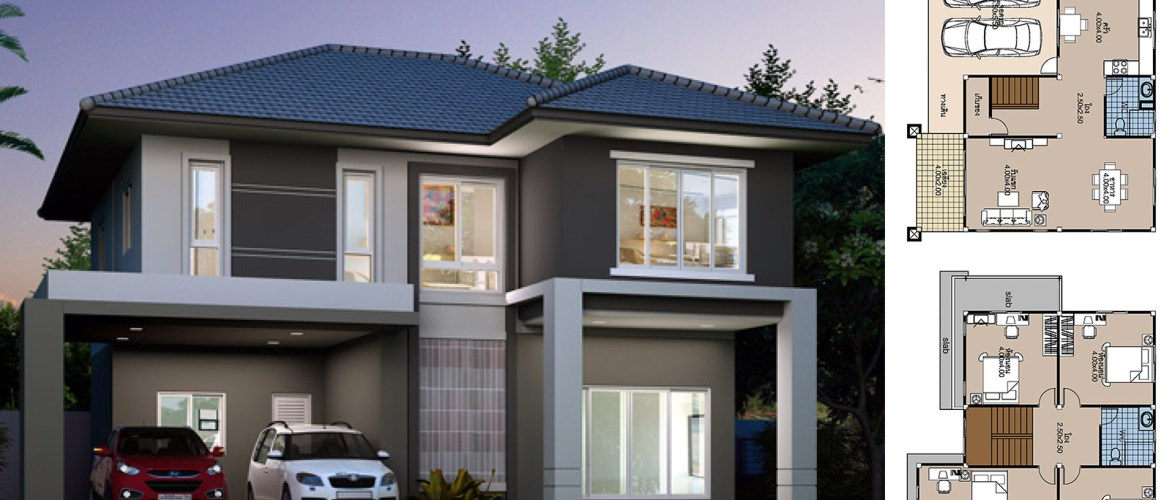 House Plans 12×10 with 4 Bedrooms