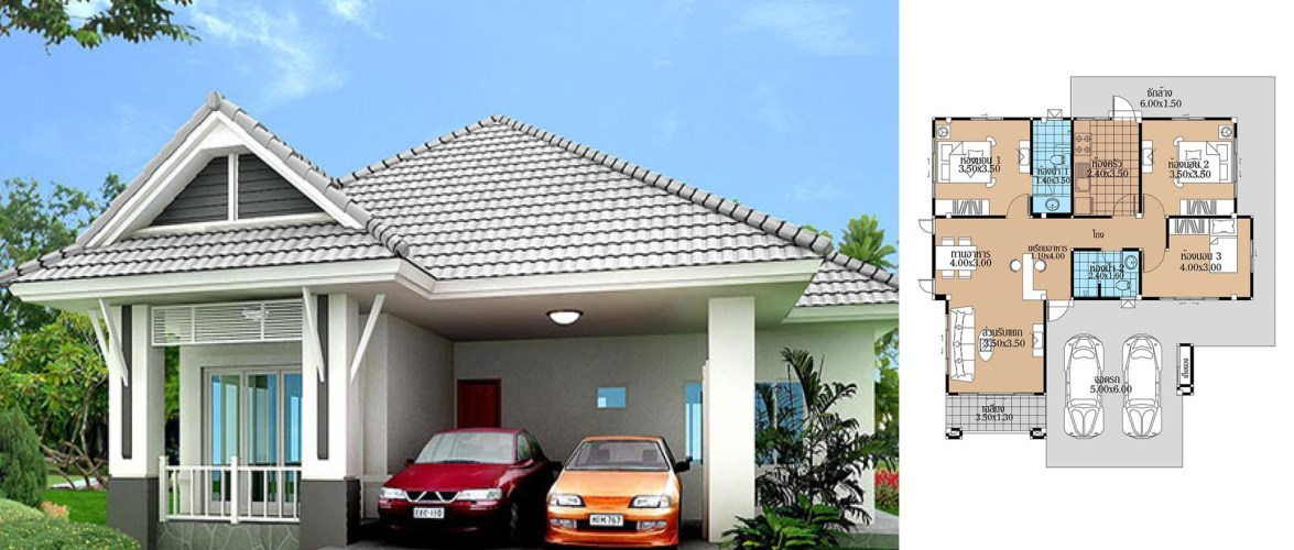 House Plans 12×11.5 with 3 Beds