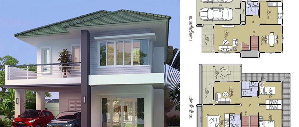 House Plans 8.5×10.2 with 3 Beds