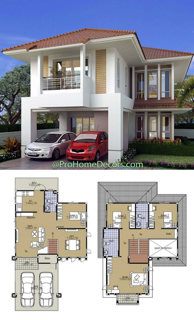 House Plans 8.5x13.5 with 4 Bedrooms 2
