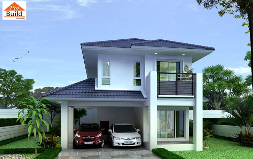 House design Plans 8x11 with 4 Bedrooms
