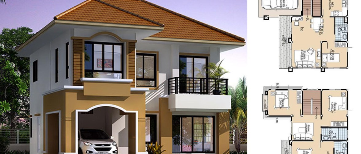 House Plans 9×9.5 with 4 Bedrooms