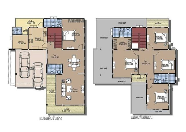 House-plans-11x14-with-5-Beds-floor-plan