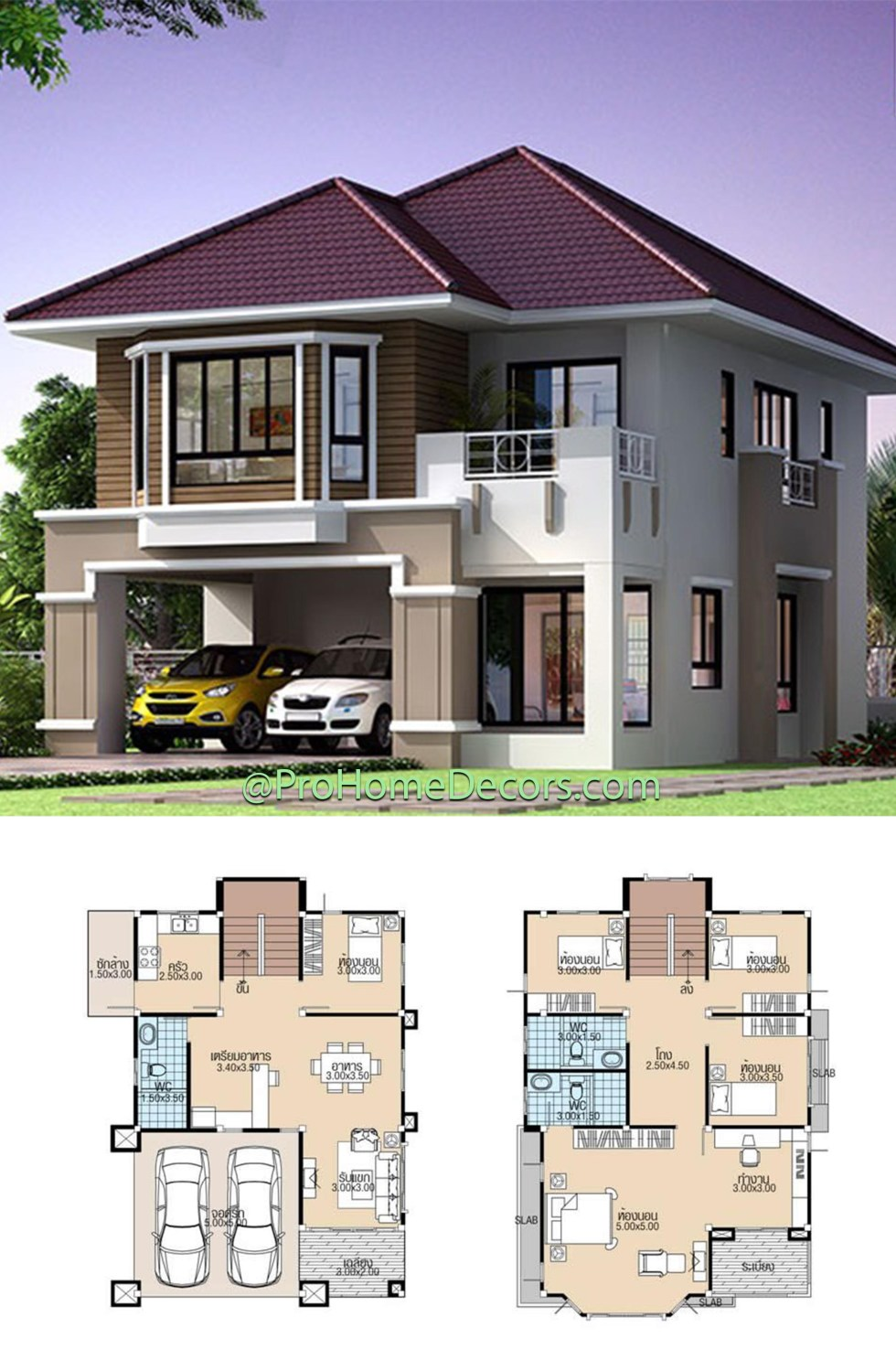 House plans 8x11.5 with 5 Beds
