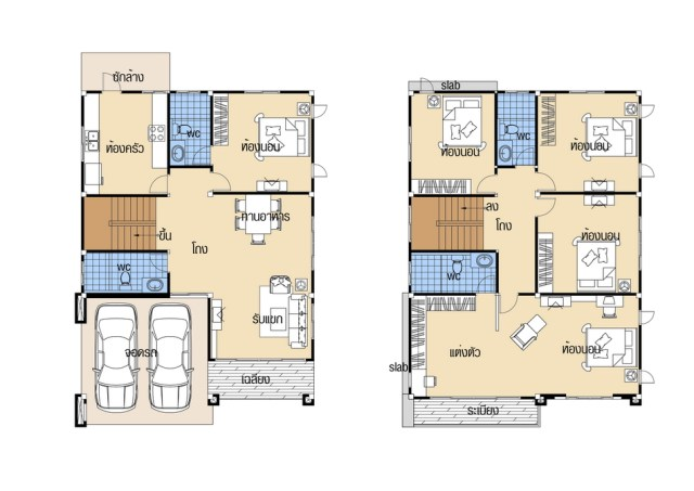 House Design plans 9x12 with 5 Beds floor plan