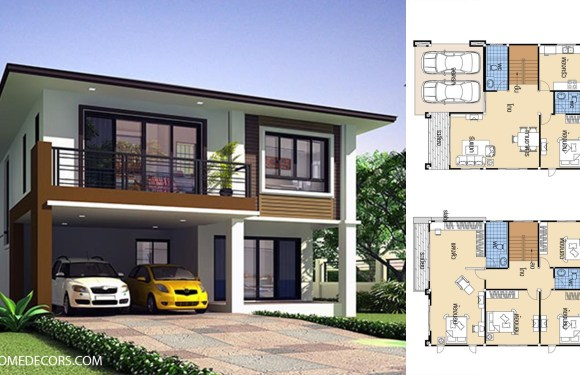 House Design plans 9×12 with 5 Beds