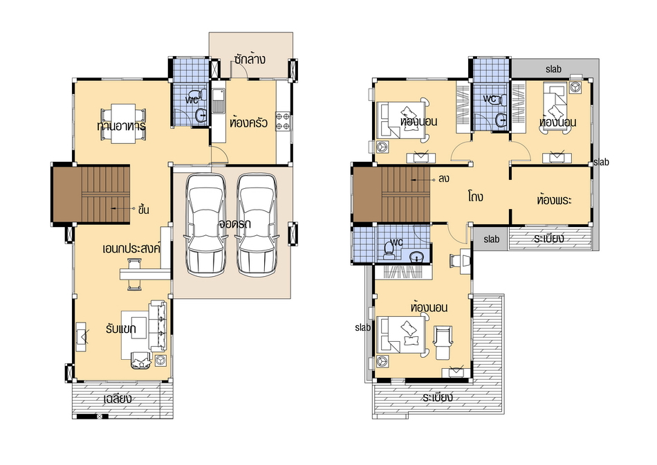 House plans 9x14 with 4 Beds floor plan