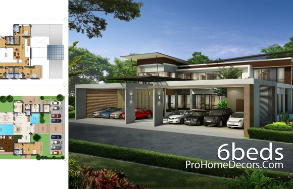 Exclusive House Plot 30×40 Meter with 6 Bedrooms