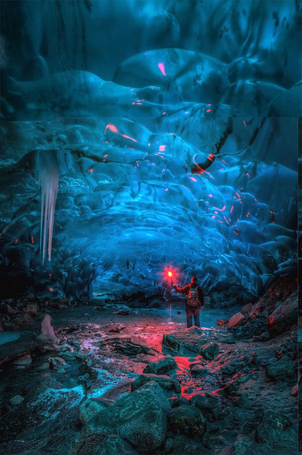 Потрясающие ледяные пещеры Аляски