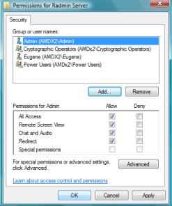 Serv NTSecurity - Radmin 3 Remote Support