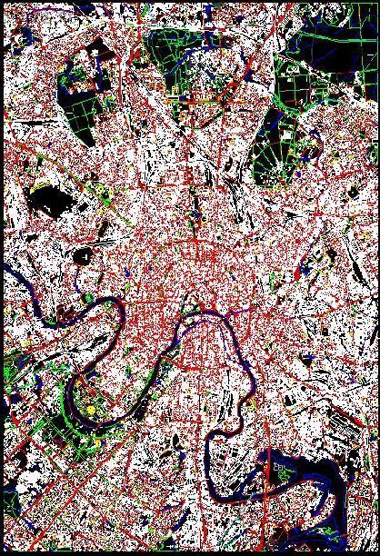 Старая карта Москвы неполная