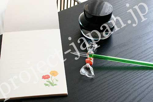 glass pen, chopstic rest for pen rest