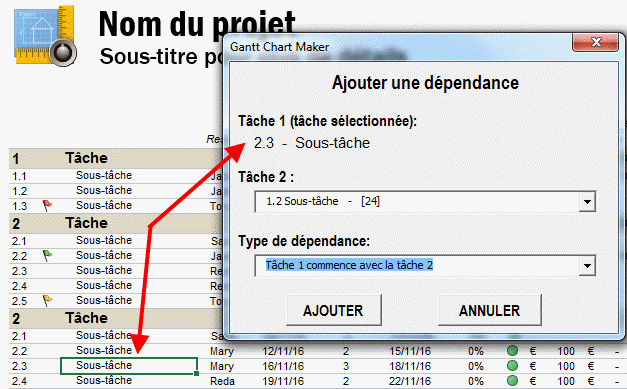 Support diagramme de gantt management tools dependancesdiagrammegantt4 ccuart