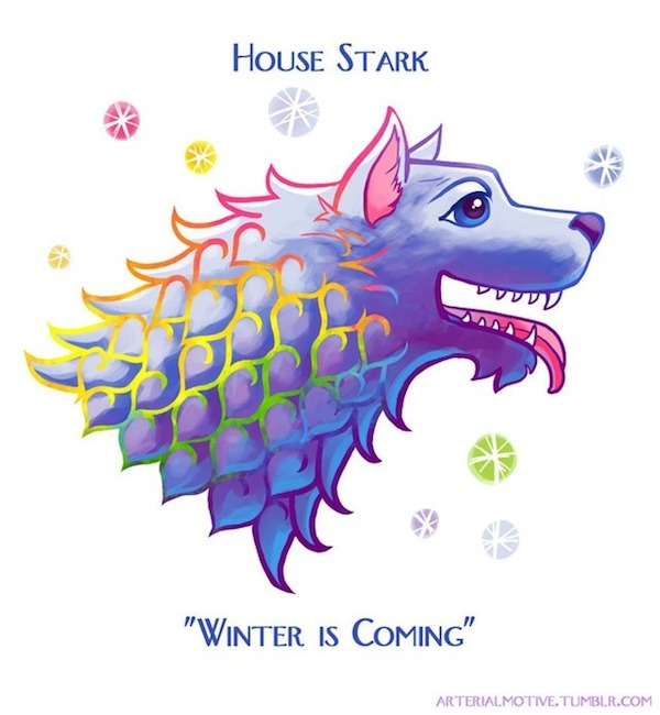 Lisa Frank Game of Thrones Sigils Stark