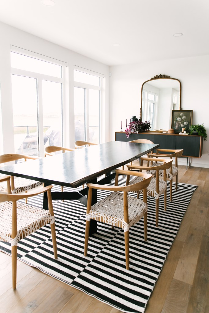 Image of dining room and capturing Jaclyn Peters design work in this interior design world.