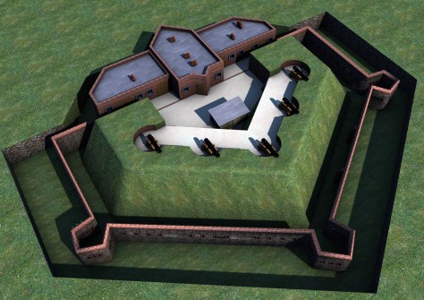 A 3D render of how the fort would have looked.