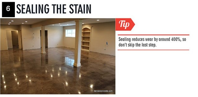 Sealing the stain