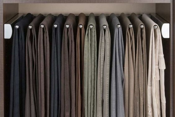 diy sliding pants rack your projects obn