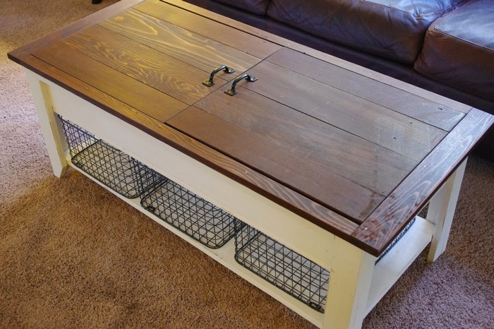 coffee table and lego storage in one