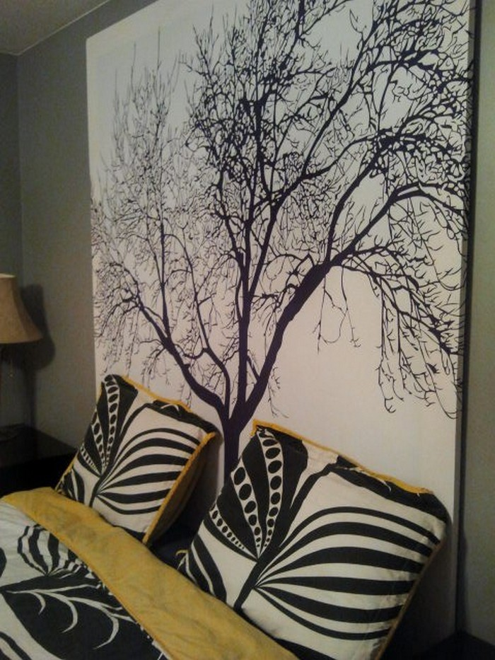 own wall art with a shower curtain