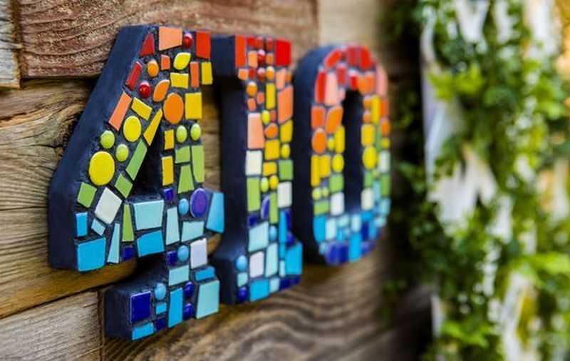 diy mosaic house numbers your