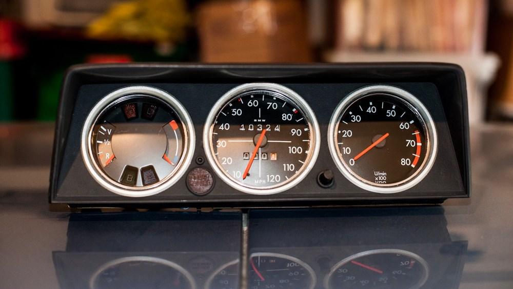 Bavarian Restoration custom gauge cluster for BMW 2002