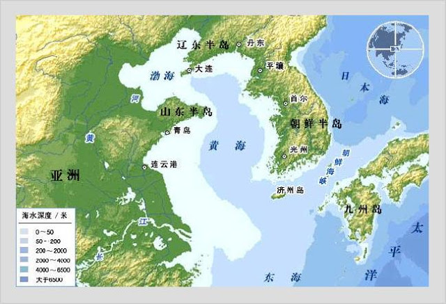 Map Of Asia Yellow Sea.Asia S Turbulent Waters Blue Water Tensions In The Yellow Sea