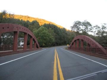 The bridge into Cummington.