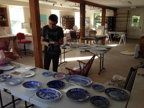 Visiting artist Paul Scott at Project Art.