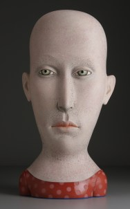 """Work by Sergei Isupov will be on view. (""""Modesty"""" 2008, stoneware, stain, glaze, 34 x 15.5 x 11"""".)"""