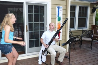 Mr. Norton plays the new bassoon.