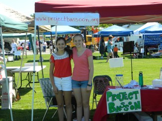 Julianne and Alexandra at the RSO tent.