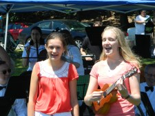 Singing the Bassoon Song at the RSO tent.