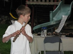 Phillip and his flute.