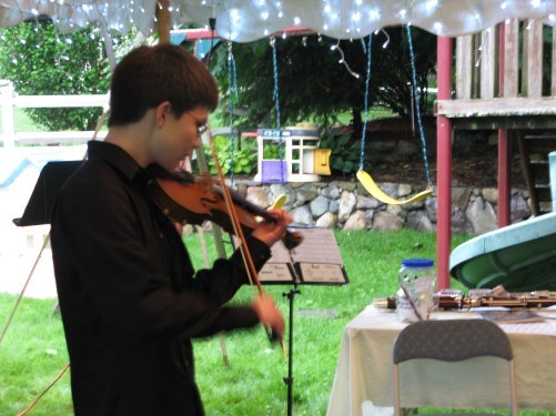 Tim and his violin.