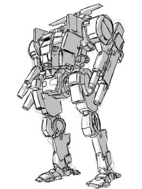 JagerMech_Concept_Line