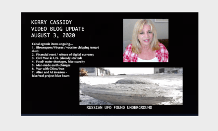 CABAL AGENDA ITEMS:  KERRY'S VIDEO BLOG UPDATE – August 3rd