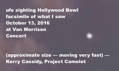 UFO SIGHTING AT HOLLYWOOD BOWL VAN MORRISON CONCERT