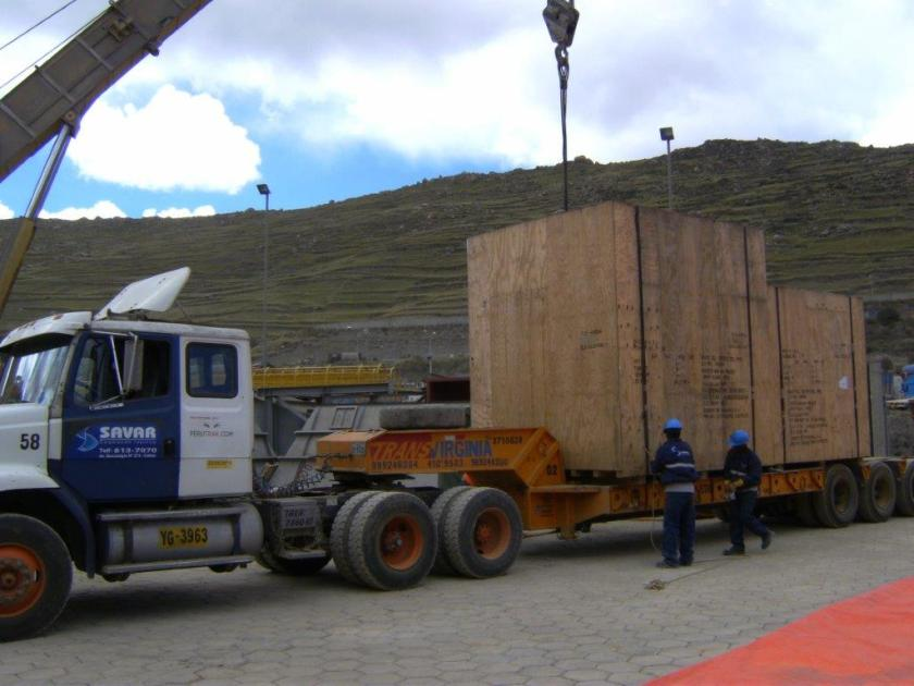 Savar trucking oversized cargo with own fleet