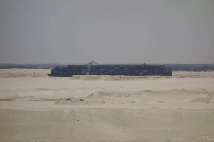 a vessel on the Suez