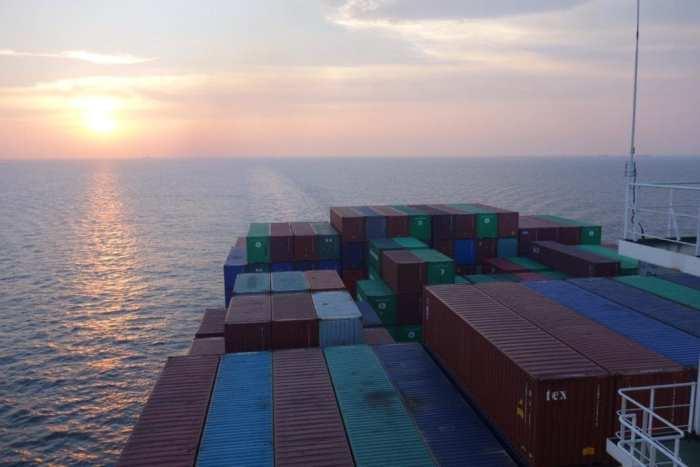 The horizon close to Port Kelang