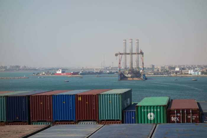 Exiting the Suez Canal