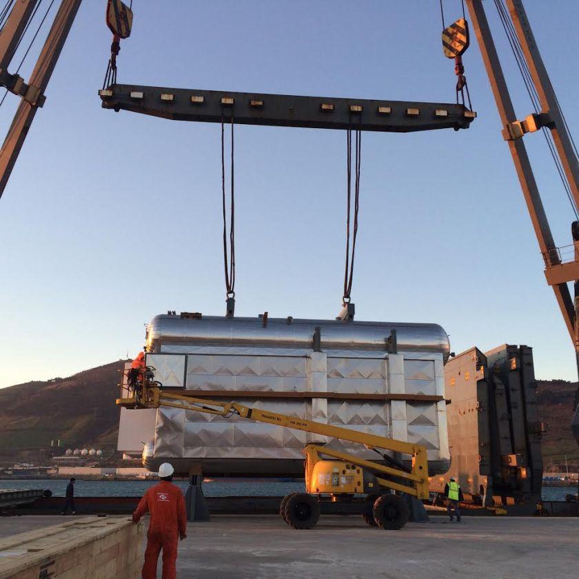 Ethilen-Boiler shipment